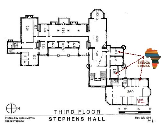 3rd Floor Map, CAS Offices