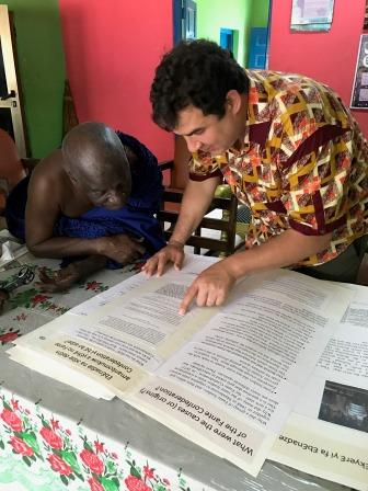 Trevor Getz and local scholar in Ghana