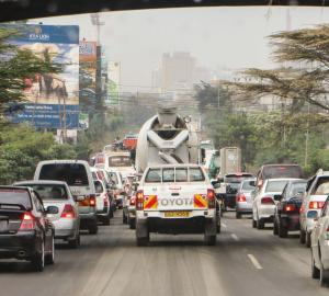 Nairobi's congestion problem has many causes but few easy solutions as the matatu ban showed. Credit: chmoss.